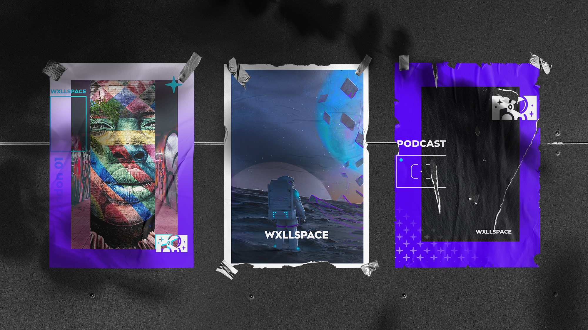 Wxllspace posters Three only