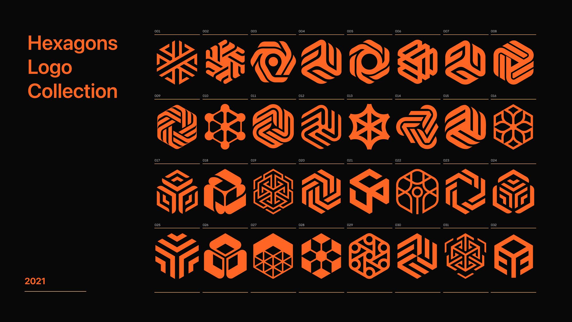 hexagon logo concepts Second Eight